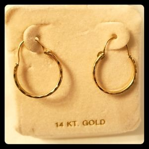 14 kt gold, Hoop Earrings, New, Never Worn